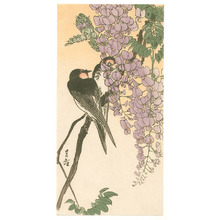 Yoshimoto Gesso: Two Swallows and Wisteria (Muller Collection) - Artelino