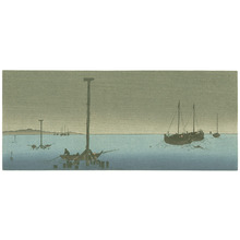Yoshimoto Gesso: Ships in the Evening (Muller Collection) - Artelino