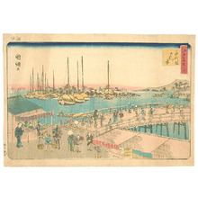 歌川国綱: Eitai Bridge - Edo Meisho no Uchi - Artelino