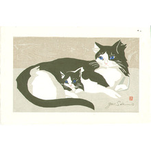 Sekino Junichiro: Cat and Kitten - Artelino