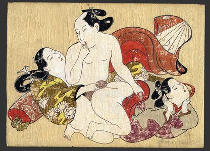 Torii Kiyonobu I: Shunga painting - The Art of Japan