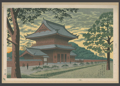 浅野竹二: Twilight at Zozoji Temple - The Art of Japan