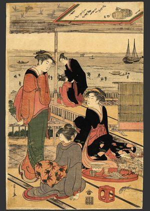Eishi: A party in a Shinagawa Teahouse (Center sheet) - The Art of Japan