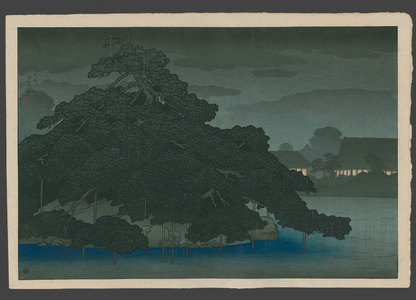 Kawase Hasui: Evening showers at Matsunoshima - The Art of Japan