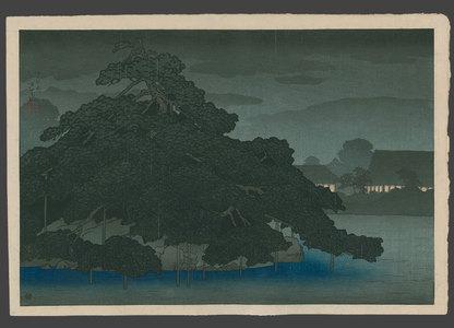 川瀬巴水: Evening showers at Matsunoshima - The Art of Japan