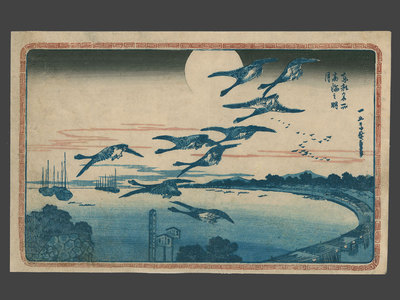 Utagawa Hiroshige: Full Moon at Takanawa - The Art of Japan