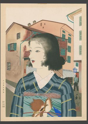 Taki Shuho: Japanese girl in a western port city - The Art of Japan