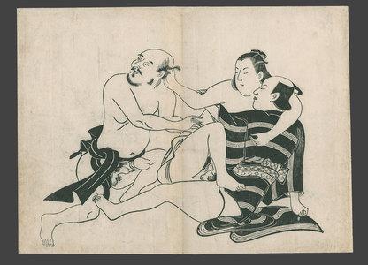 Torii Kiyonobu I: Three lovers - The Art of Japan