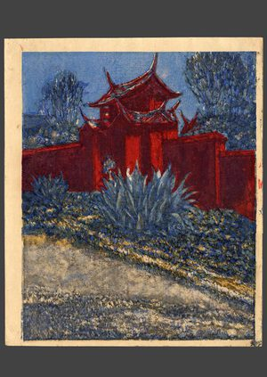 Onchi: Side Gate of a Confucian temple in Formosa - The Art of Japan