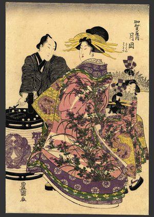 歌川豊国: Tsukioka of the Kaga-ya - The Art of Japan