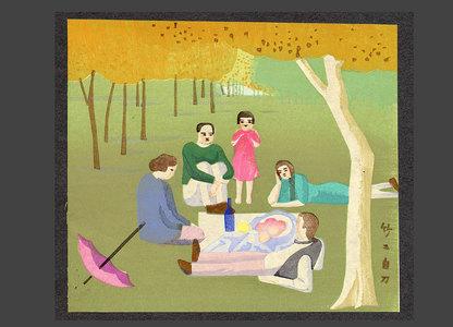 浅野竹二: Picnic (After a French painting) - The Art of Japan
