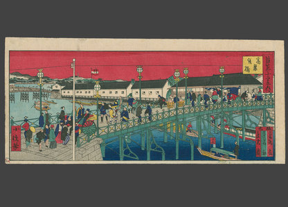 Konobu: Korai Iron Bridge (1st iron bridge in Osaka) - The Art of Japan