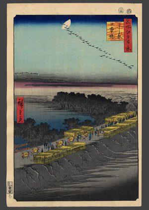 歌川広重: The Nihon Embankment at Yoshiwara - The Art of Japan