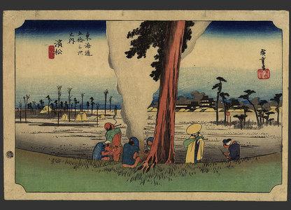 歌川広重: Hamamatsu - Winter Desolation - The Art of Japan