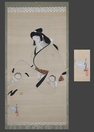 北野恒富: Sleeping Genroku bijin - The Art of Japan