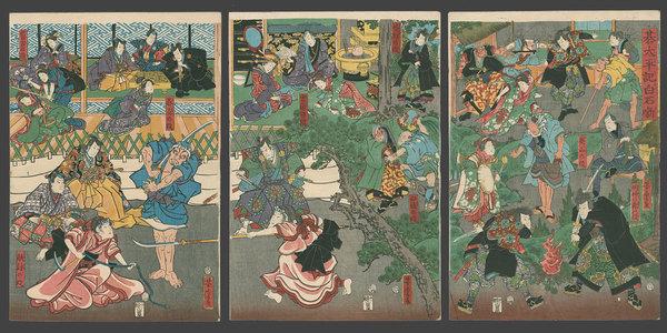 歌川芳虎: Tales of the Taiheiki as White Go Stones - The Art of Japan