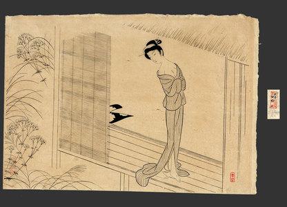 Komura Settai: The Heroine Osen after a Bath 40/200 - The Art of Japan