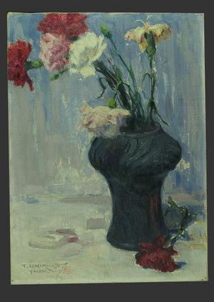石川寅治: Still Life of Vase and Flowers - The Art of Japan