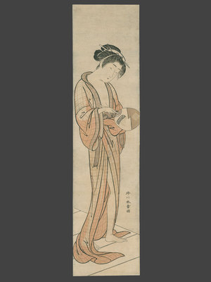 勝川春章: Courtesan Cooling Off - The Art of Japan