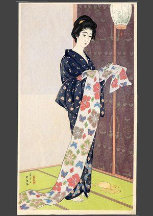 Hashiguchi Goyo: Young woman in summer kimono - The Art of Japan
