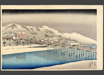 橋口五葉: Sanjo Bridge, Kyoto - The Art of Japan