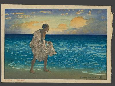 Charles Bartlett: Hawaiian Fisherman, John Hano-Hano Pa - The Art of Japan