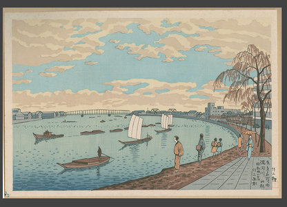 Asano Takeji: Early Spring, Sumida River - The Art of Japan