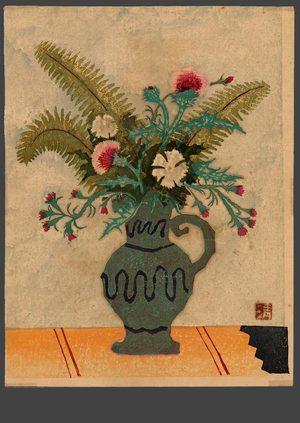 平川清蔵: Still Life - Vase with flowers - The Art of Japan