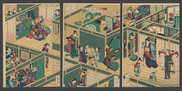 月岡芳年: Inside a Tokyo Brothel - The Art of Japan