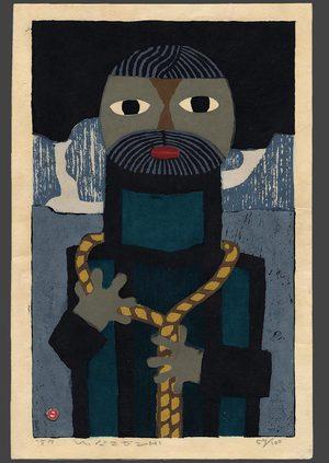 Azechi Umetaro: Mountain man with a rope 59/100 - The Art of Japan