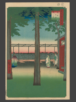 歌川広重: #10 Dawn at Kanda Myojin Shrine - The Art of Japan
