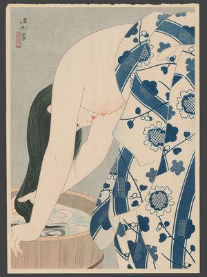 伊東深水: Washing Her Hair #175 - The Art of Japan