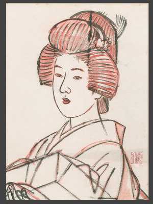 Ito Shinsui: Drawing - Bust Portrait of a Bijin - The Art of Japan
