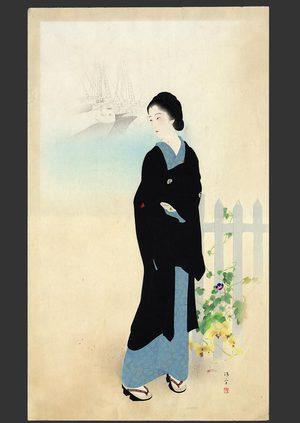 鏑木清方: Tsukiji Akashi-cho - The Art of Japan