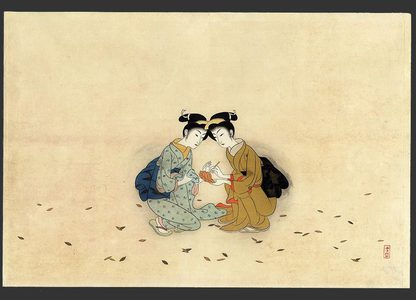 Komura Settai: A parody of Hanshin and Shide, two chinese monks - The Art of Japan