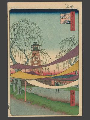 歌川広重: #6 Hatsune Riding Grounds, Bakro-cho - The Art of Japan