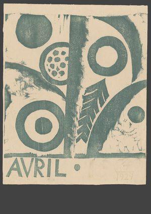 Onchi: Avril 1929 - The Art of Japan