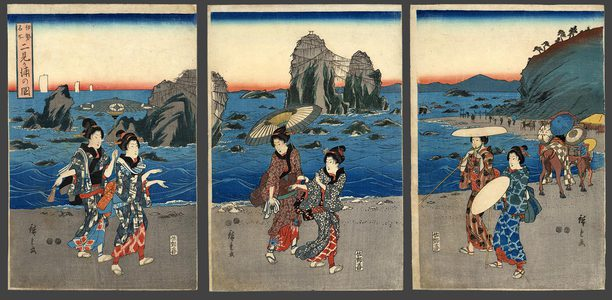 歌川広重: View of the Coast of Itami - The Art of Japan