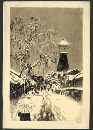 Oda Kazuma: Sumiyoshi in Snow - The Art of Japan