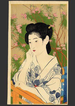 Hashiguchi Goyo: Woman at a Hot Springs Hotel - The Art of Japan