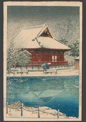 Kawase Hasui: Snow at Shinobazu Benten Shrine - The Art of Japan