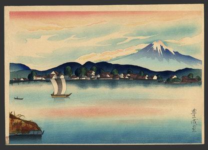 Toyonari: View of Mt. Fuji from Izumi - The Art of Japan
