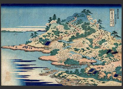 葛飾北斎: Mouth of the Aji River, Tempozan, Setsu - The Art of Japan