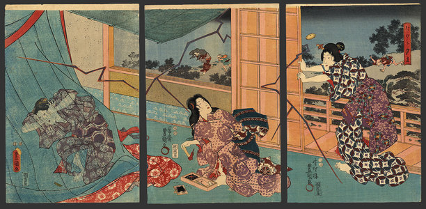 歌川国貞: Sudden evening rain - The Art of Japan