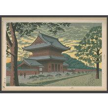 浅野竹二: Twilight at Zozoji Temple - The Art of Japan