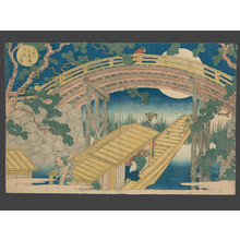 Yashima Gakutei: Moonlit Night at Suehiro Bridge - The Art of Japan