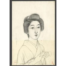 Hashiguchi Goyo: #14 Bust portrait of model Morikawa - The Art of Japan