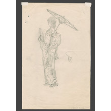 Elizabeth Keith: Pencil study for Blue and White - The Art of Japan