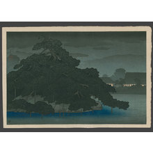 川瀬巴水: Evening showers at Matsunoshima - The Art of Japan