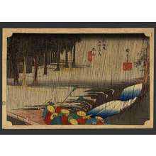 歌川広重: Spring Rain at Tsuchiyama - The Art of Japan